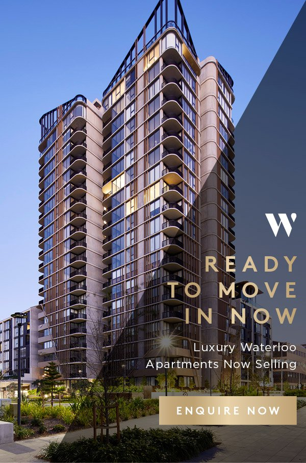 Waterfall by Crown Group - Ready to move in now - Luxury Waterloo Apartments Now Selling - Enquire Now