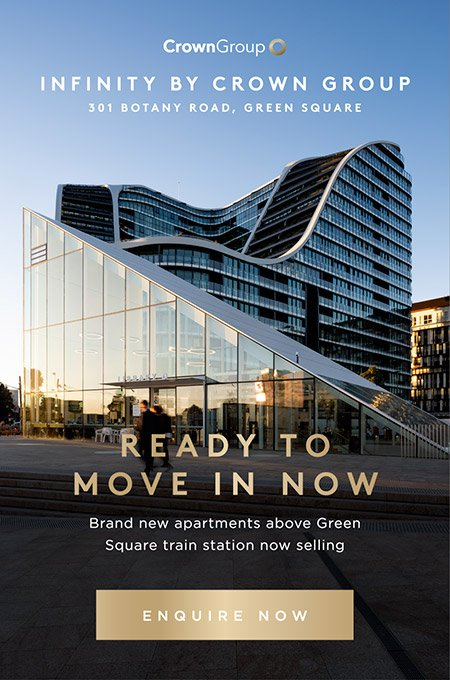 Infinity by Crown Group / Ready to move in now - brand new apartments above Green Square train station now selling - enquire now