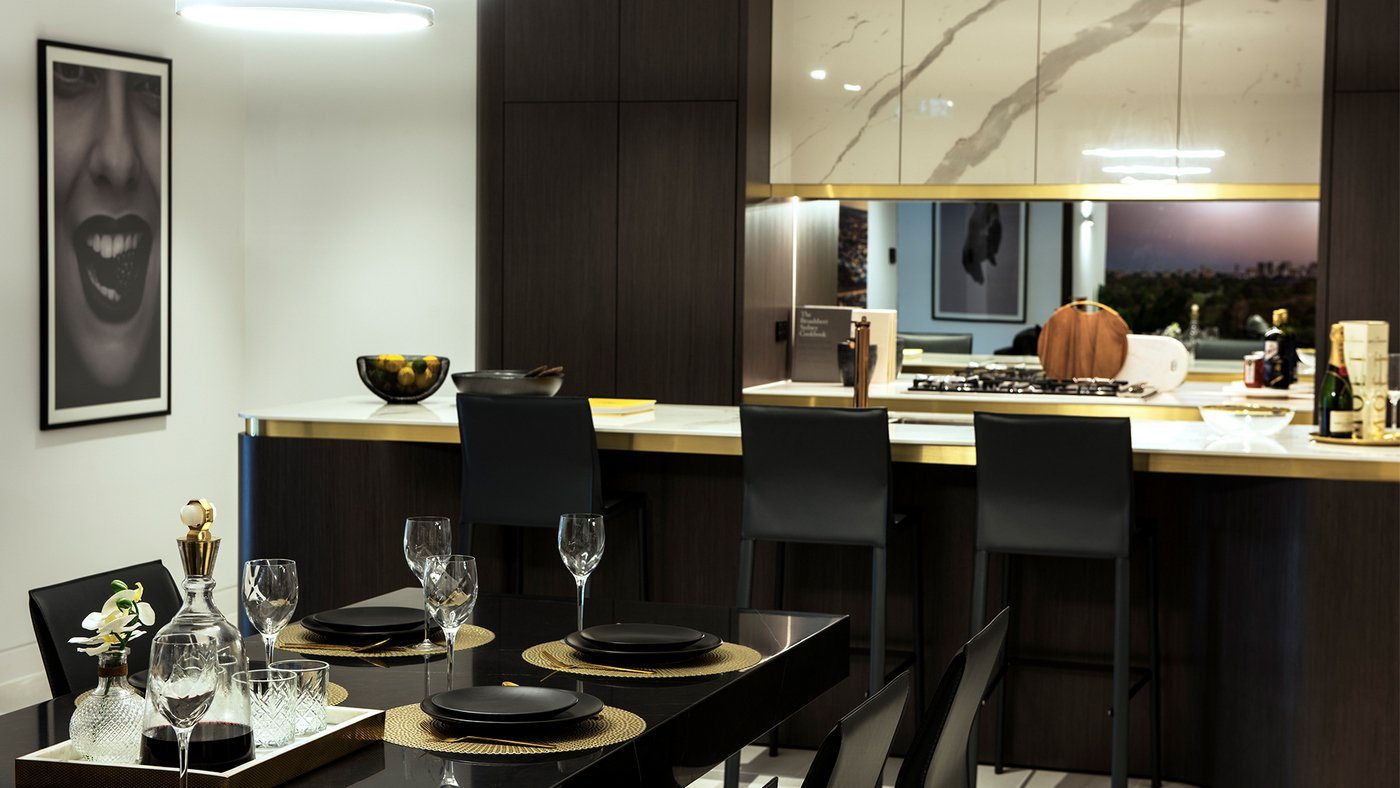dining area in a luxury apartment